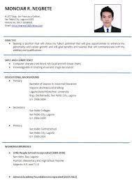 Resume Format For Ojt Release Photograph Sample Industrial