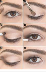 simple eye makeup for brown eyes via