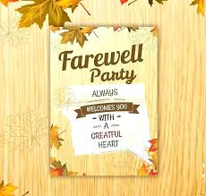 sgering farewell party invitation wording invitations