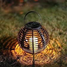 hanging solar lights outdoor lantern led waterproof round rattan powered candle light garden lanterns ligh hanging solar lights outdoor
