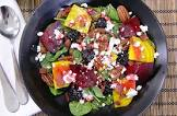 beet salad with raspberry vinaigrette