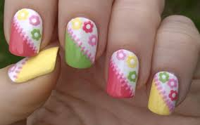 Life World Women: Colorful Tape & Toothpick Floral Nail Art