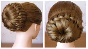 Chignon Tress Facile Tuto Coiffure Simple Cheveux Mi Long