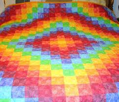 Rainbow Trip Around the World Quilt | Quilts | Pinterest ... & Rainbow Trip Around the World Quilt Adamdwight.com