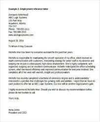 Recommendation Letter For Employment Shared By Thaddeus Scalsys