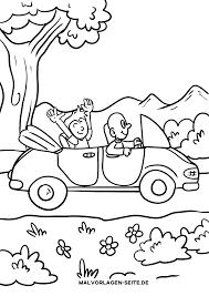Kleurplaat Auto
