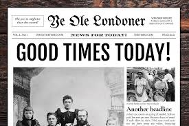 The Times Newspaper Template Newspaper Template For Google Docs 4 Pages Vsual