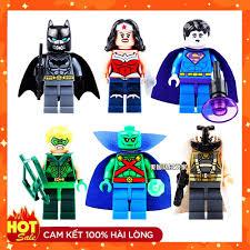 ĐỒ CHƠI LEGO ] ⚡GIÁ RẺ GIẬT MÌNH ⚡ Bộ Đồ Chơi Lắp Ráp lego minifigures Mô  Hình Siêu Anh Hùng 0211-0216 Dc