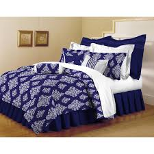 classic trends indigo 5 piece full queen comforter set