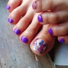 夏ネイルフットネイルフットネイルパープルネイル紫 ネイルパープル