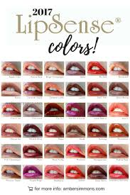 Lipsense Color Chart New 2017 Lipsense Color Chart Amber Simmons