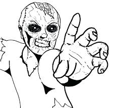 Scary Halloween Coloring Pages For Adults At Getdrawingscom Free