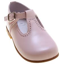 baby and toddler pink leather t bar shoes double tap to zoom