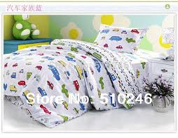 kids children girl boy cartoon car 3pcs 100 cotton twin lovely printing duvet cover set
