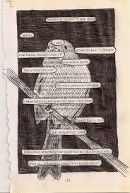 drawing on book pages idea in process using pages from books to create something new