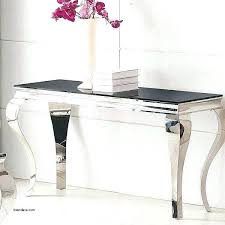 glass and chrome console table black glass and chrome console table call to order a smoked glass and chrome console table