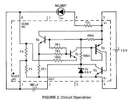 1 5v battery cell led flasher circuit diagram transistors q1 through q3 remain off until the capacitor becomes charged to about 1v this voltage is determined by the junction drop of q4