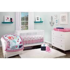 disney ariel sea treasures 3 piece crib bedding set throughout baby girl nursery bedding sets