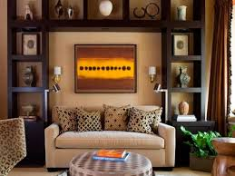 how to use the living room wall above the sofa