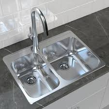 Image Double Basin Rona Double Basin Undermount Kitchen Sink Steel 27