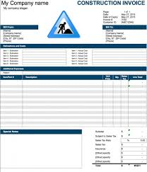 Construction Invoice Template Interesting Invoice Template For Builders Denryoku