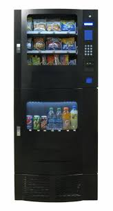 Compact Combination Vending Machine Fascinating Snak Mart SM48 Black Combo Vending Machines Snack And Soda Combo