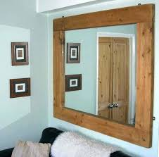 wood wall mirrors. Rustic Wood Wall Mirror Large Wooden Framed Mirrors Apply Big For