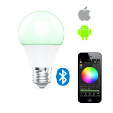 e27 wireless bluetooth dimming led bulb sync color changing app controlled party mood lighting lights