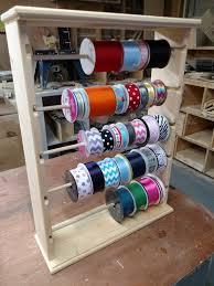 ribbon spool rack organizer for 4 5