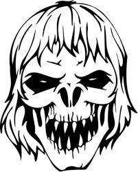 Small Picture Scary Zombie Skull coloring page Free Printable Coloring Pages