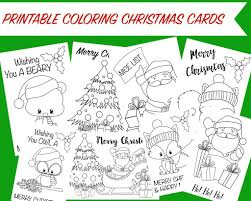Christmas Coloring Cards Free Printable Christmas Activity For Kids