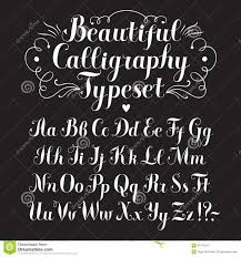 calligraphy font stock illustration image 61575973