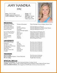 Acting Resume Templates Delectable Acting Cv Templatesample Acting Cv Resume Templatejpg Soulhour