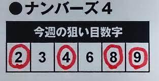 ナンバーズ 4 通信