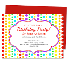 Birthday Party Invitation Sample Invitations For Birthday Party Jennie Design
