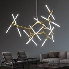 generic modern glass branch chandelier metal pendant light industrial ceiling fixtures