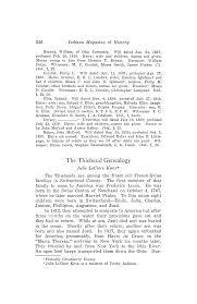 The Thiebaud Genealogy