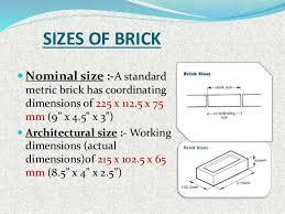 size of a brick brick masonry