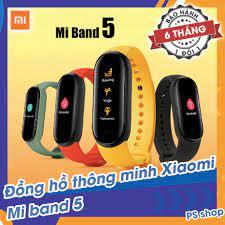 Mã ELMAR31 Giảm 10%] [Sẵn Hàng] Đồng hồ thông minh Xiaomi Mi Band 5 / Vòng  tay theo dõi sức khoẻ Miband 5 - Theo dõi nhịp tim - Thông báo tình
