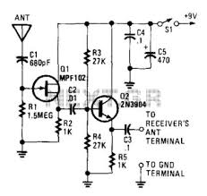 antenna circuit rf circuits next gr active antenna i
