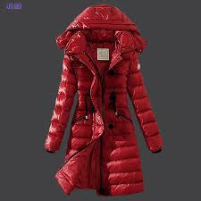 moncler coats women 2016 winter down coat hooded slim red hizs