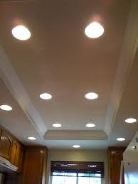 ceiling lights new cost to install recessed lighting in existing how led kitchen light