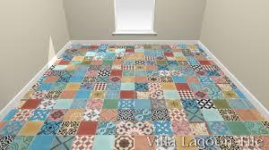 patchwork cement tile from villa lagoon tile 3d floor render for larger image