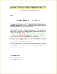 Experience Letter Format Sales Save Experience Certificate Format