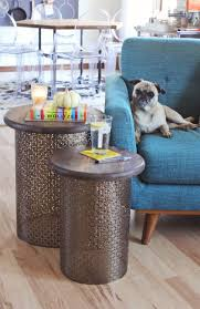 Diy Round Coffee Table Diy Brass Side Tables A Beautiful Mess