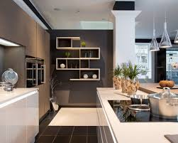 kitchen design wall colors. Brilliant Wall White Wall Shelves And Charcoal Grey Color For Perfect Contemporary Kitchen  Design With Glass Pendant Lamps Colors R
