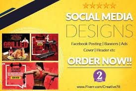 Design Amazing Social Media Banner Ads Headers Postings By
