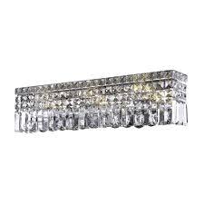 elegant lighting 2032w26c sa maxim 6 light vanity in chrome with spectra swarovski clear crystal