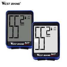 WEST <b>BIKING Large Screen Bicycle</b> Computer Wireless <b>Waterproof</b> ...