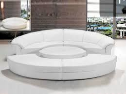 Modern Leather Sectional Sofa Circle